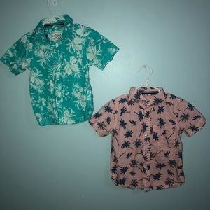 (2) infant dress shirts (beach style)